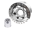 "Picture of 17"" Aluminum Beadlock Wheel, (8 On 6.5 W/ 3.75"" Bs), Orange Segmented Ring"
