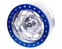 "Picture of 17"" Aluminum Beadlock Wheel, (8 On 6.5 W/ 4.25"" Bs), Clear Satin Segmented Ring"