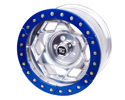 "Picture of 17"" Aluminum Beadloclk Wheel, (5 On 5.50"" W 3.75"" Bs), Blue Segmented Ring"