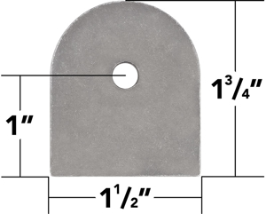"""Picture of 3/16"""" Thick Weld On Flat Tabs, 1.75"""" (10 Pack)"""