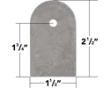 """Picture of 3/16"""" Thick Weld On Flat Tabs, 2.5"""" (10 Pack)"""