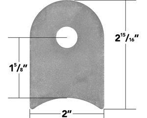 """Picture of Weld On Flat Tab 3"""" Cope (10 Pack)"""